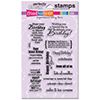 Stampendous Clear Stamps BIRTHDAY ASSORTMENT SSC1115
