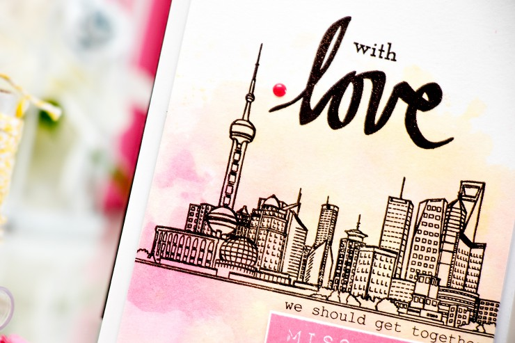 Yana Smakula | Altenew Sketchy Cities With Love Watercolor Card