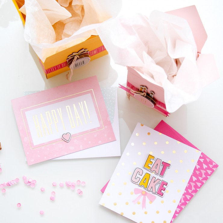 Yana Smakula | Gossamer Blue June 2015 Kits - Bithday Cards and Gift Packaging