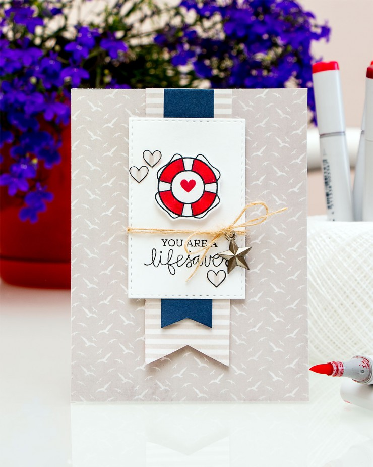 Yana Smakula | Simon Says Stamp July 2015 Car Kit You Are a Lifesaver