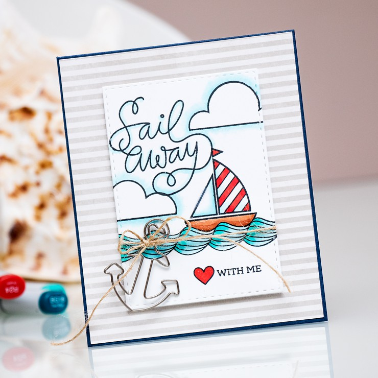 Yana Smakula | Simon Says Stamp July Card Kit - Sail Away With Me
