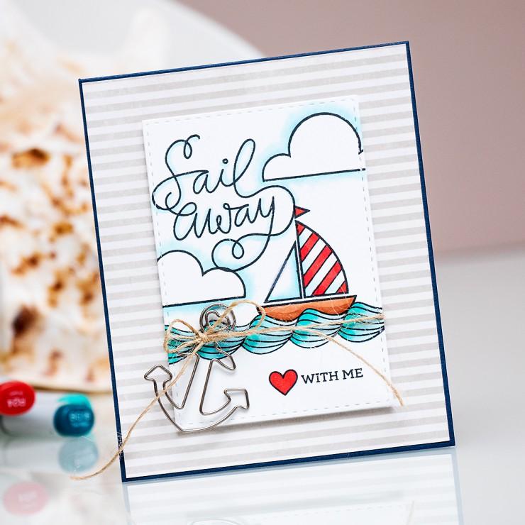 Yana Smakula | Simon Says Stamp July Card Kit - Sail Away With Me