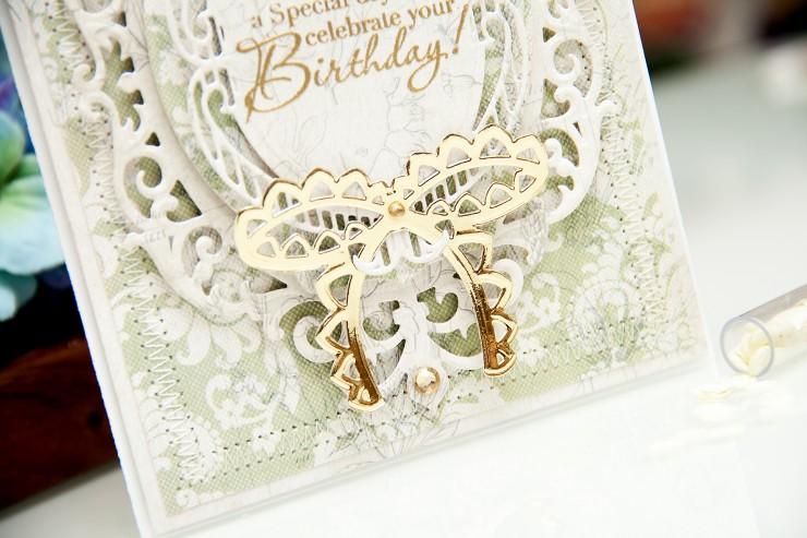Yana Smakula | Spellbinders Birthday Card
