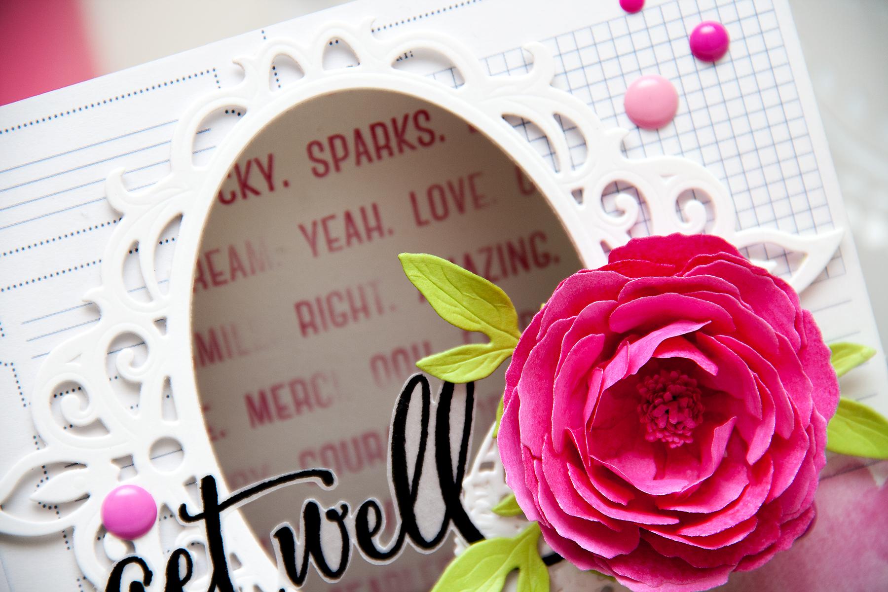 Yana Smakula | Spellbinders Get Well Window Card