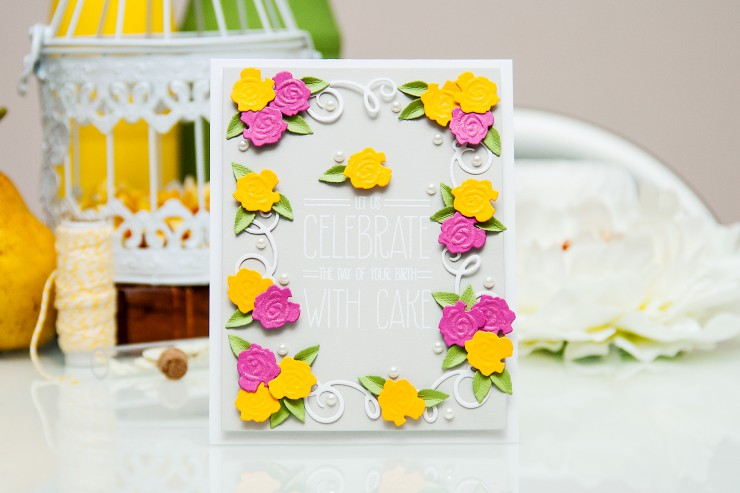Yana Smakula | Spellbinders Eat Cake Card Clean & Simple Die Cutting #45