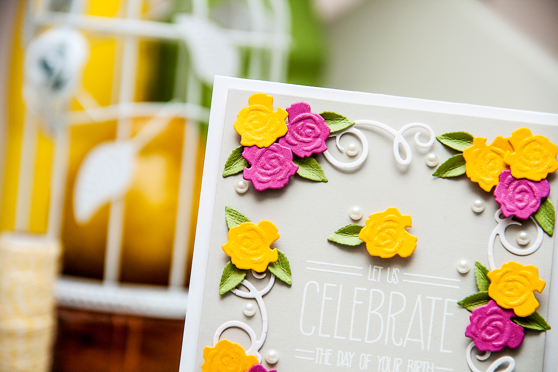 Yana Smakula | Spellbinders Eat Cake Card Clean & Simple Die Cutting #45