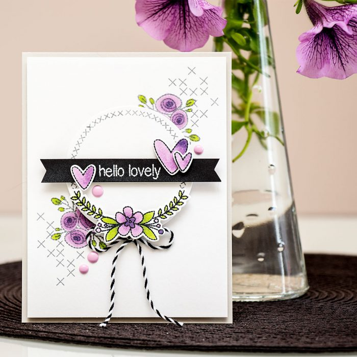 Neat & Tangled | Faux Hand Stitched Card. Video