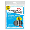 3D Foam Squares - Black Mix
