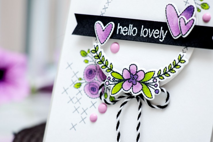 Faux Hand Stitched Card + Neat & Tangled July 2015 Release. Video
