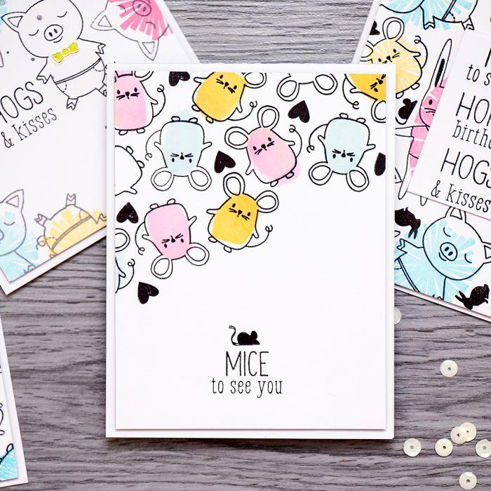 Yana Smakula | Mice to see you Hero Arts Baby Animals Cards