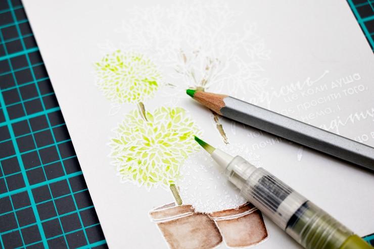 Яна Смакула | Листівка ручної роботи - Радість це коли... для ТМ Lesia Zgharda