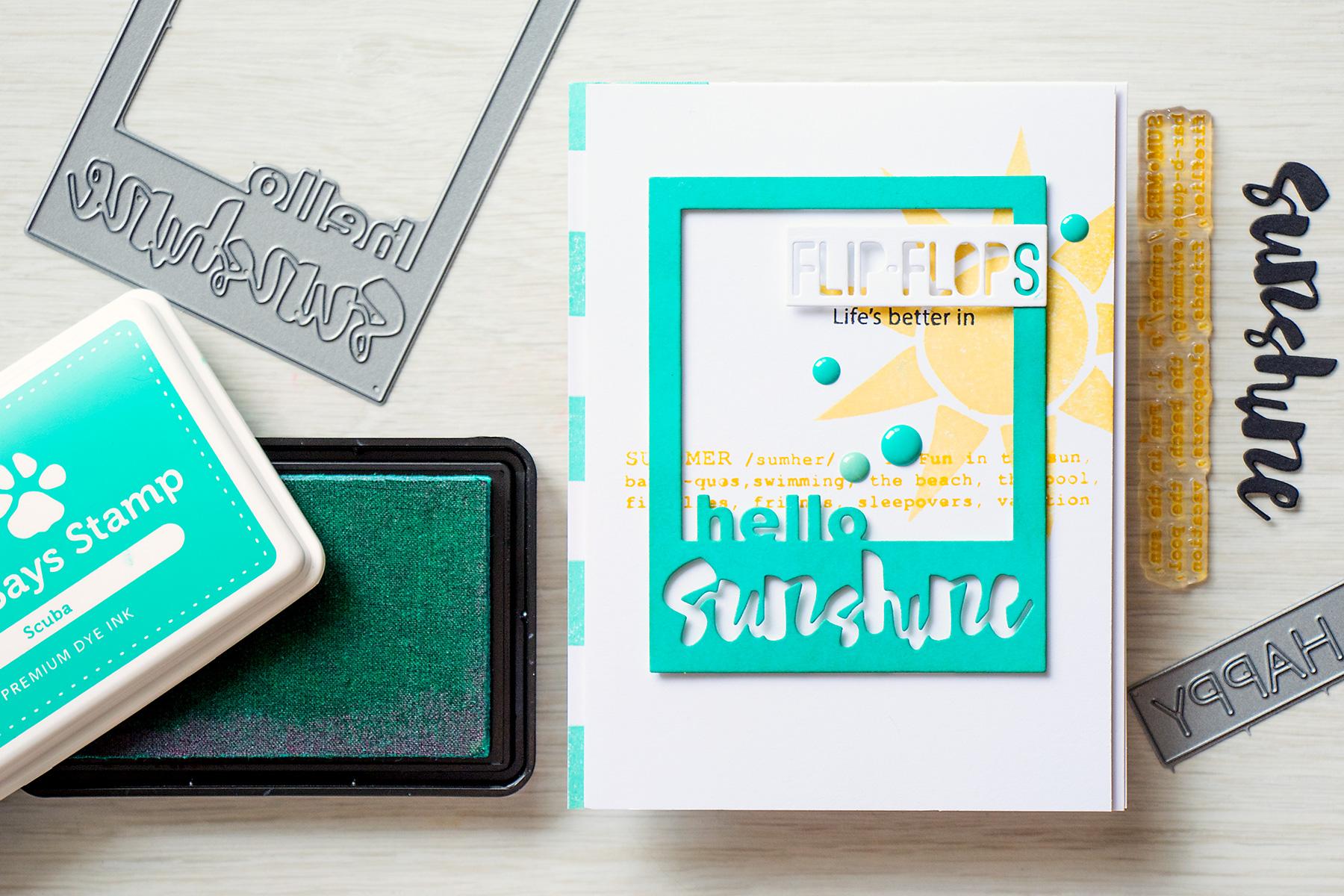 Yama Smakula | Simon Says Stamp Splash of Color Hello Sunshine Card