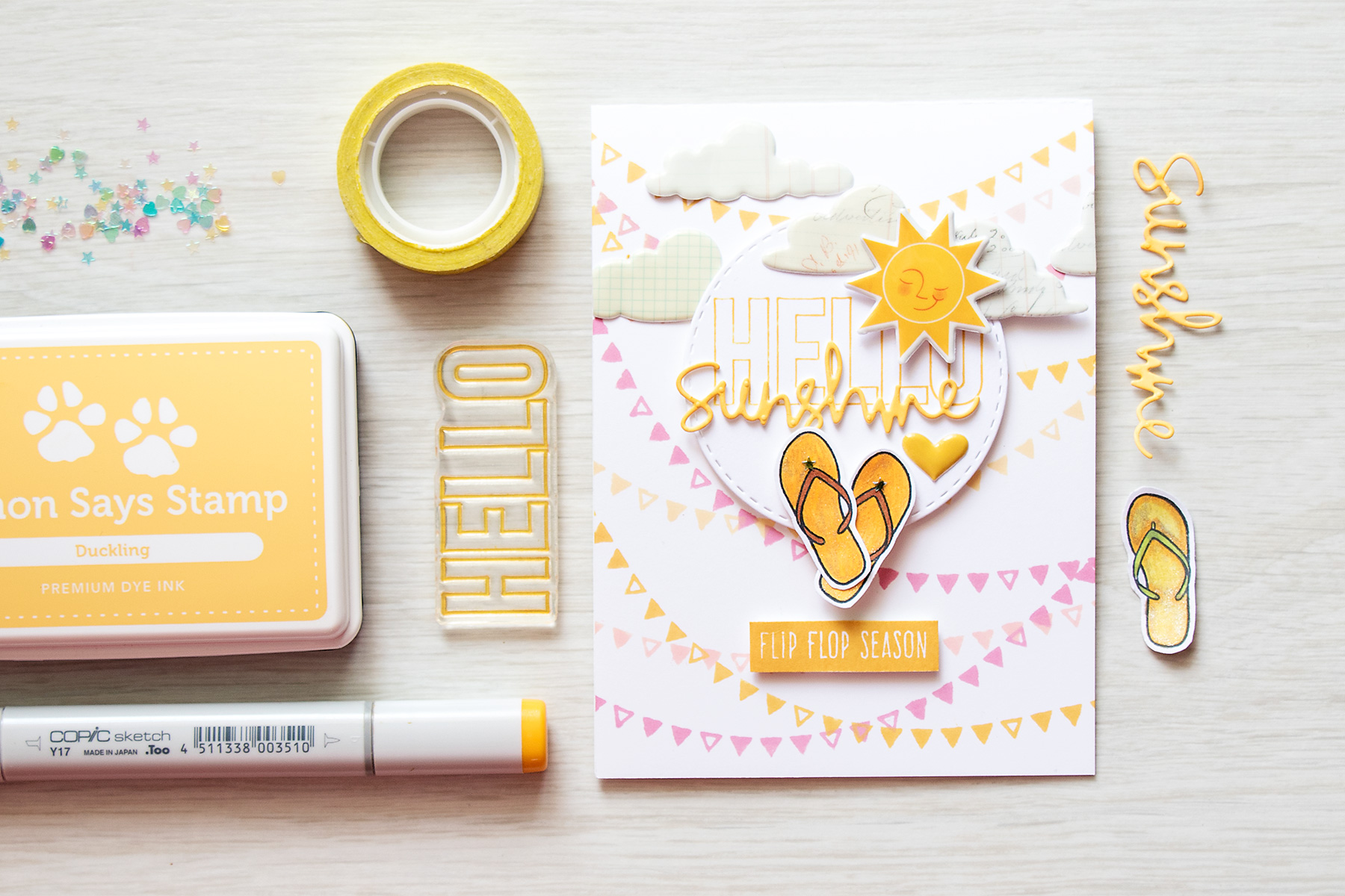 Simon Says Stamp August Card Kit - Hello Sunshine. Video