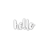 Simon Says Stamp PAINTED HELLO Wafer Thin Die sssd111486 Splash of Color