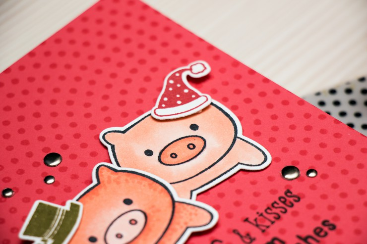 Yana Smakula | Hero Arts Hogs & Kisses Card