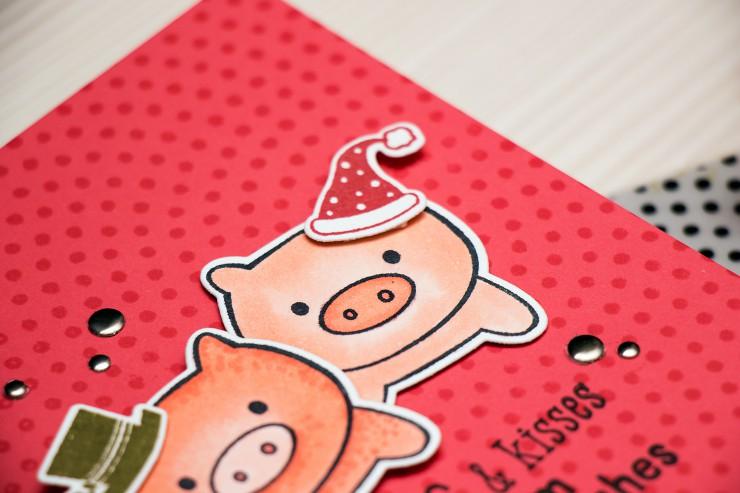 Yana Smakula | Hero Arts Hogs & Kisses Card