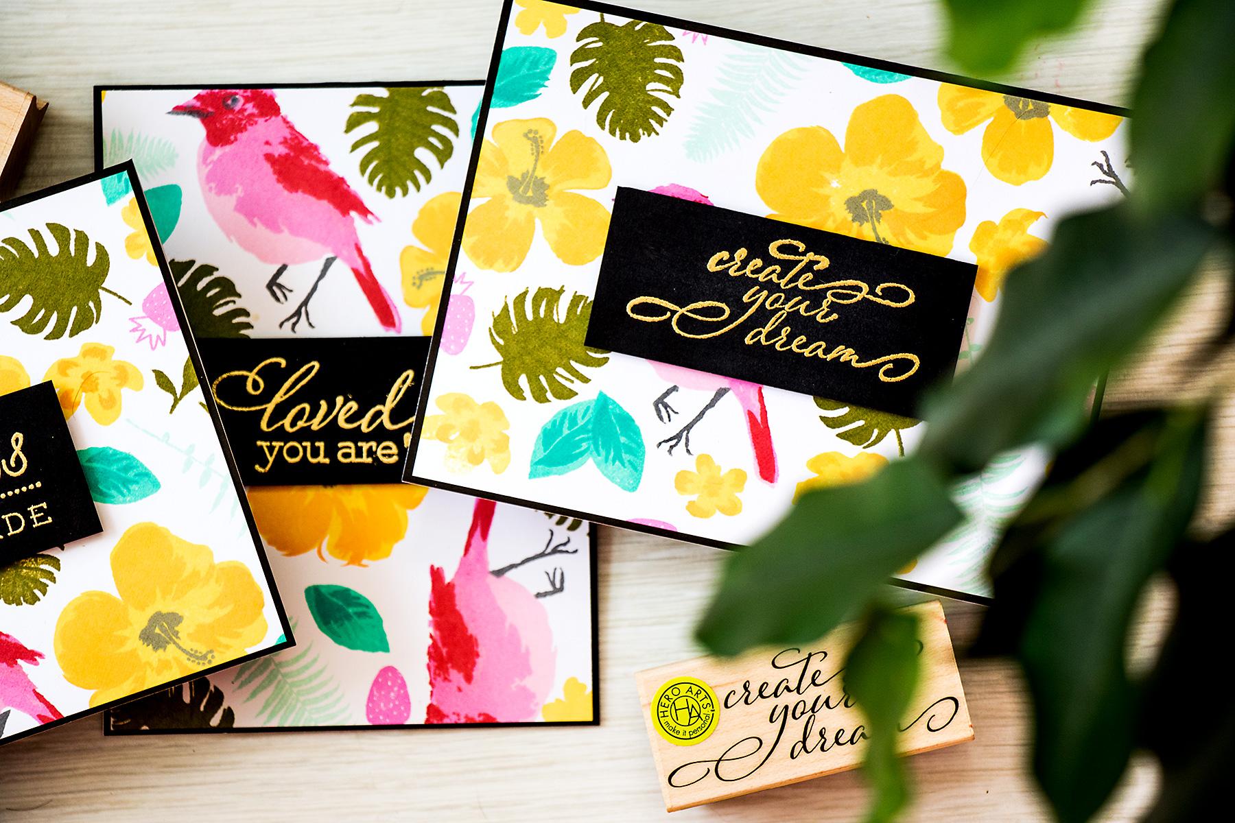Yana Smakula   Hero Arts: Modern Tropical Cards. Video