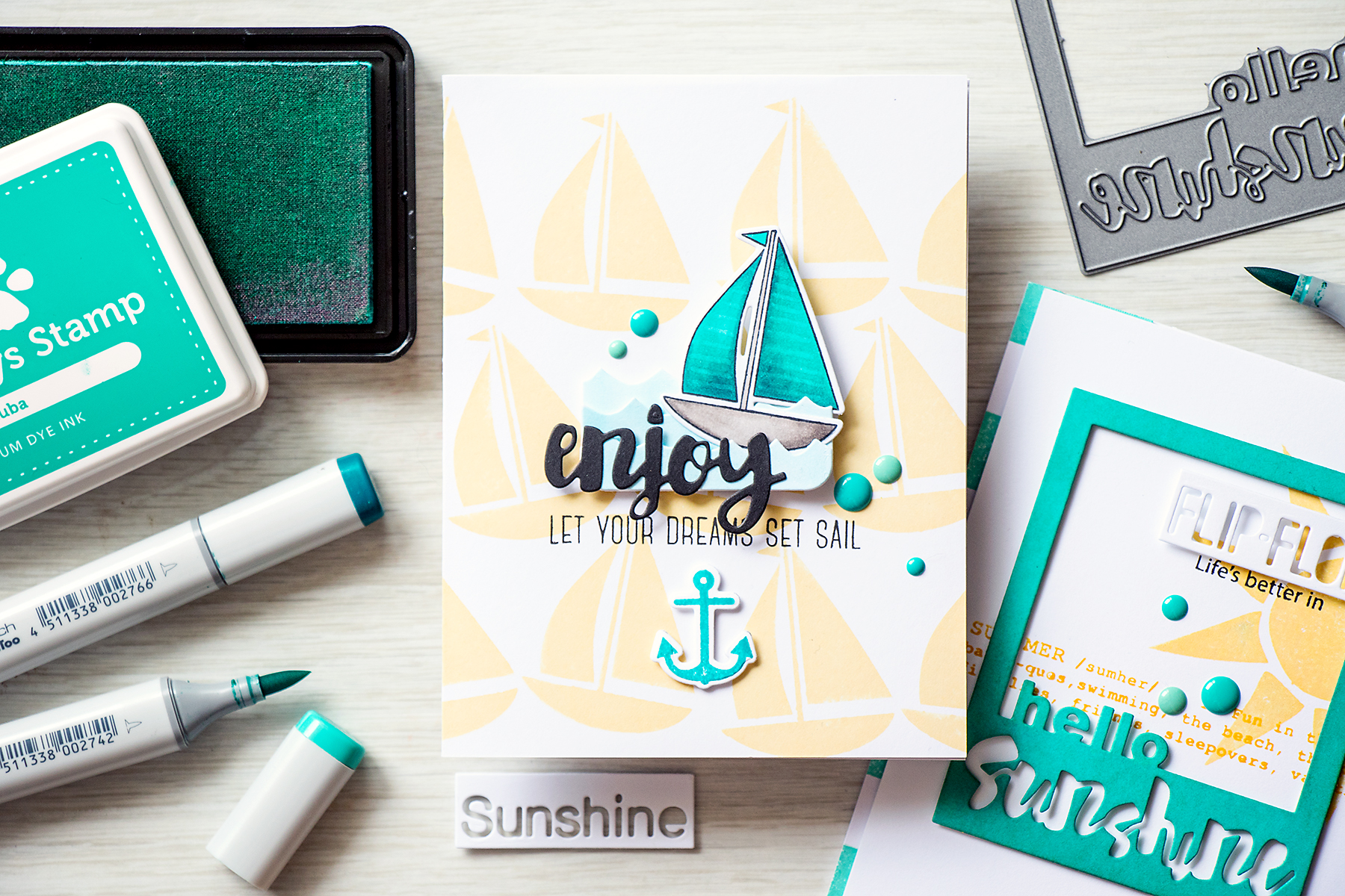 Yana Smakula | Simon Says Stamp Let Your Dreams Set Sail Splash Of Color Release
