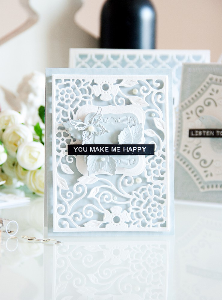 Yana Smakula | Spllbinders You Make Me Happy Card featuring Tudor Rose Card Front S4-502, Labels One S4-161, Gold Labels One S4-423, Jewel Flowers and Flourishes S5-143