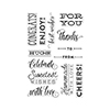 Hero Arts Clear Stamps CHEERS MESSAGES BY LIA CL903 Lia Griffith