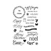 Hero Arts Clear Stamps HAPPY MERRY MESSAGES BY LIA CL904 Lia Griffith
