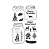 Hero Arts Clear Stamps WINTER SCENE CL896