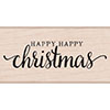 Hero Arts Happy Happy Christmas Rubber Stamp H6116