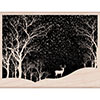 Hero Arts Snowy Scene Rubber Stamp K6100