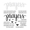 Hero Arts STAMPtember Exclusive PRAYERS Stamps and Dies Set SRHA15