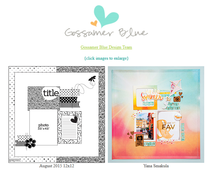 Gossamer Blue August - Page Maps