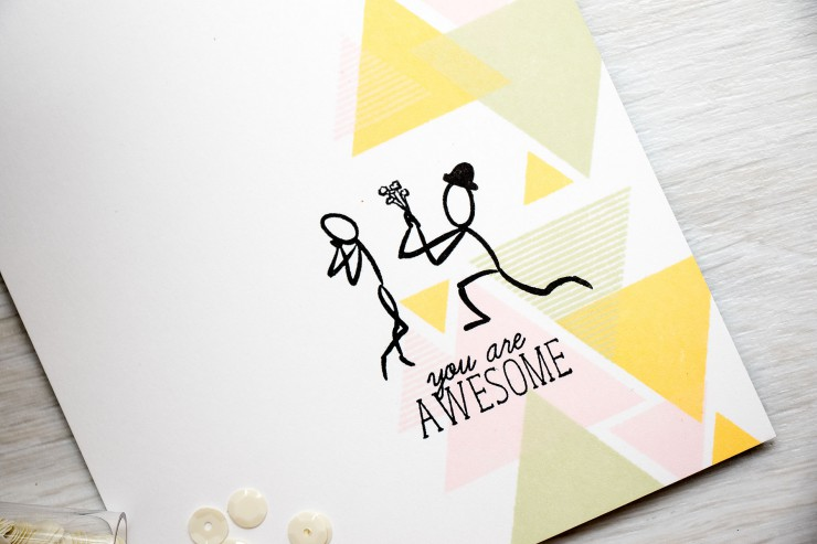Yana Smakula | Altenew: You Are Awesome Card