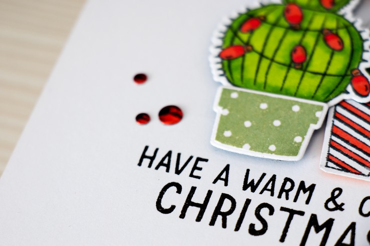Yana Smakula | Hero Arts Cacti Card - Warm and Cozy Christmas