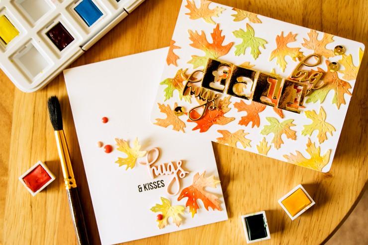 Yana Smakula SSS: Big Fall Watercolor Hugs Cards