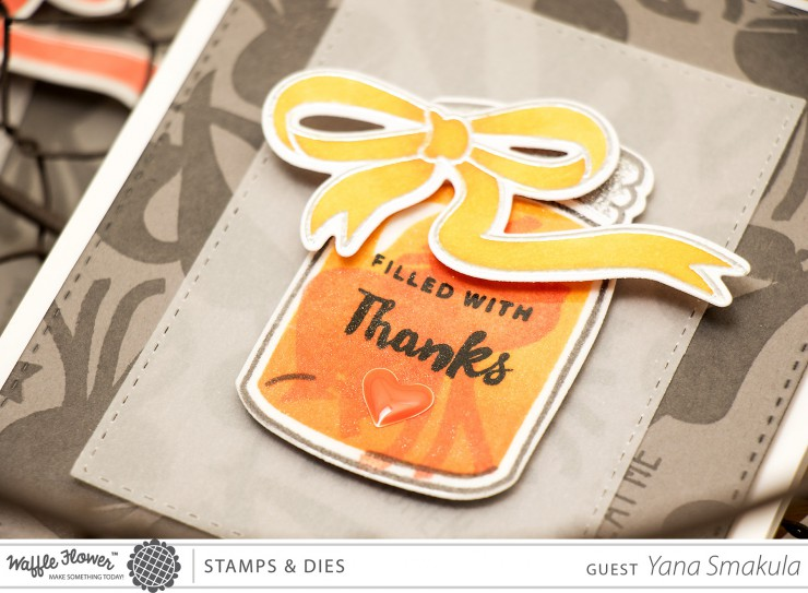 Yana Smakula | Waffle Flower Crafts: Tone on tone stamping. Video