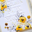 Yana Smakula   Simple Embossed Sentiments for Cards with Spellbinders dies and Altenew Stamps   Video tutorial