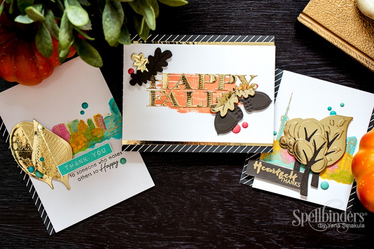 Spellbinders Woodland Collection Fall Cards by Yana Smakula