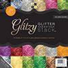 DCWV Cardstock Glitzy Glitter Paper Stack