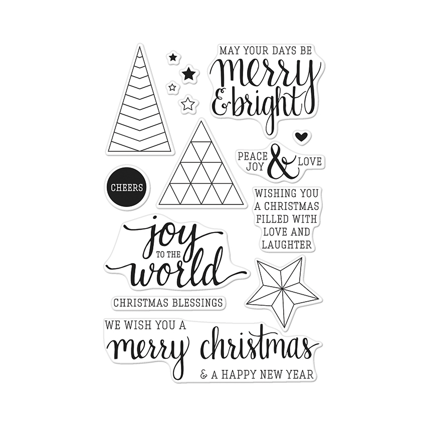 Hero Arts Clear Stamps JOY TO THE WORLD CL881