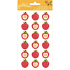 Pebbles Inc. PUFFY APPLES Dimensional Stickers Harvest 732899