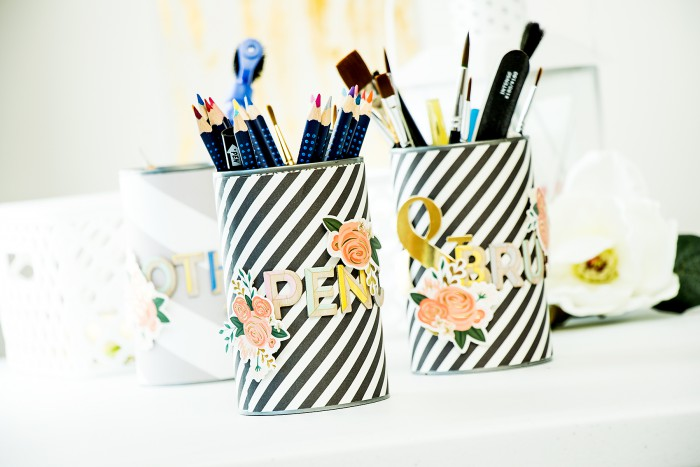 Yana Smakula | Pencil and Brush holders with Gossamer Blue November Kits