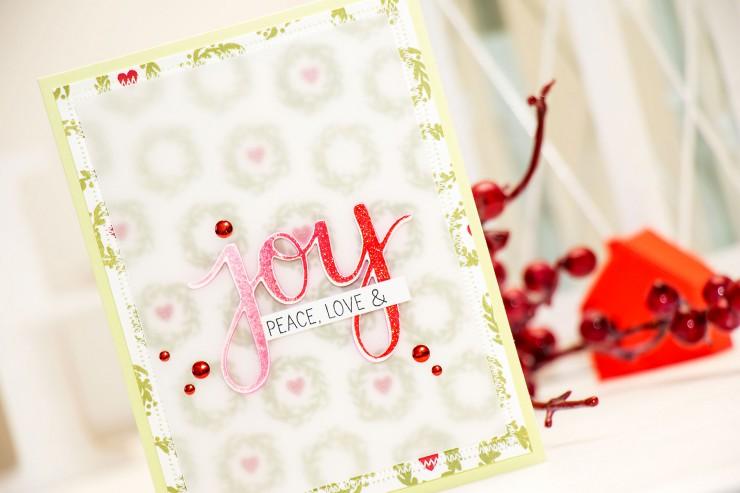 Hero Arts   Love, Peace & Joy Holiday Card