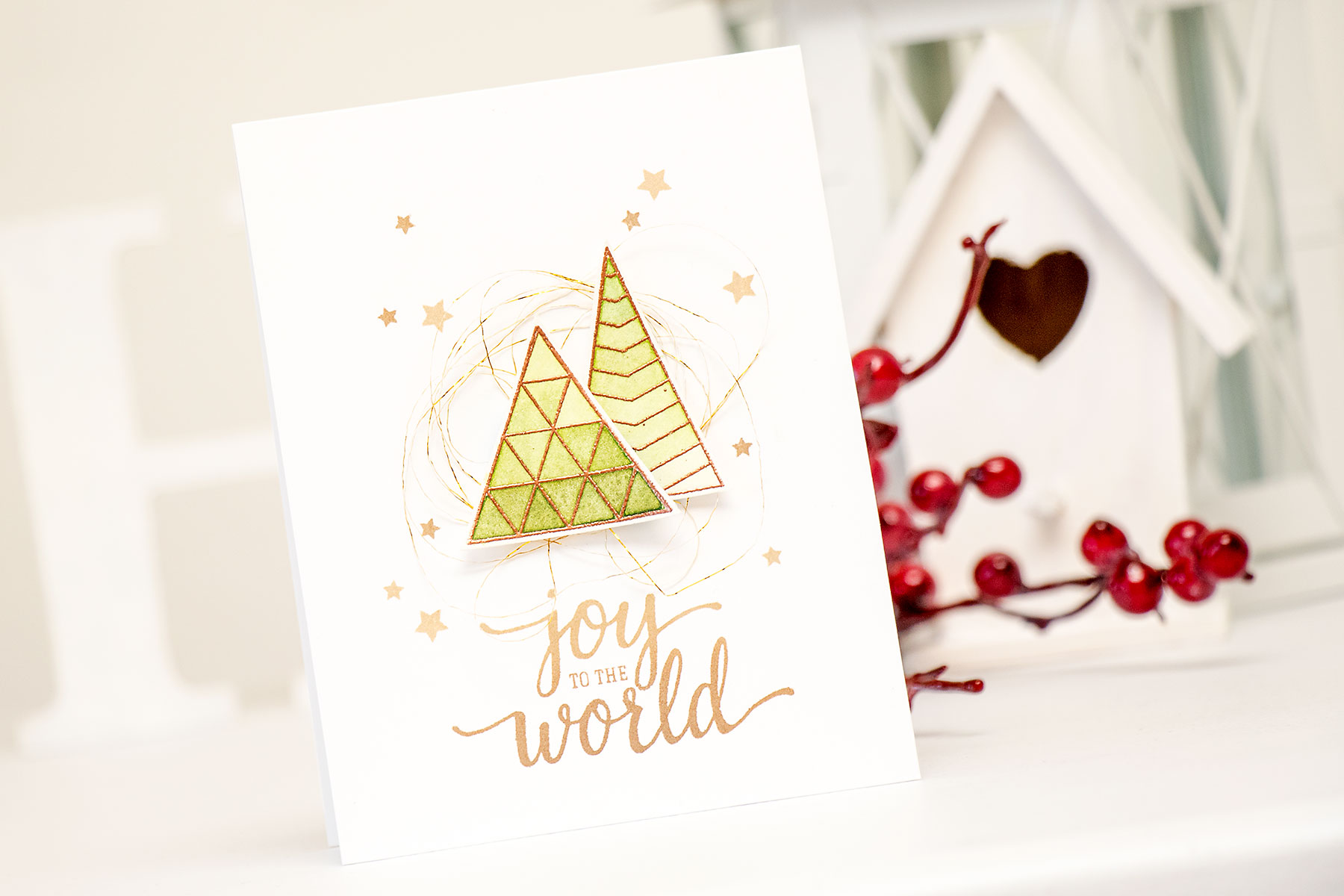 Yana Smakula | Hero Arts Joy To the World Card
