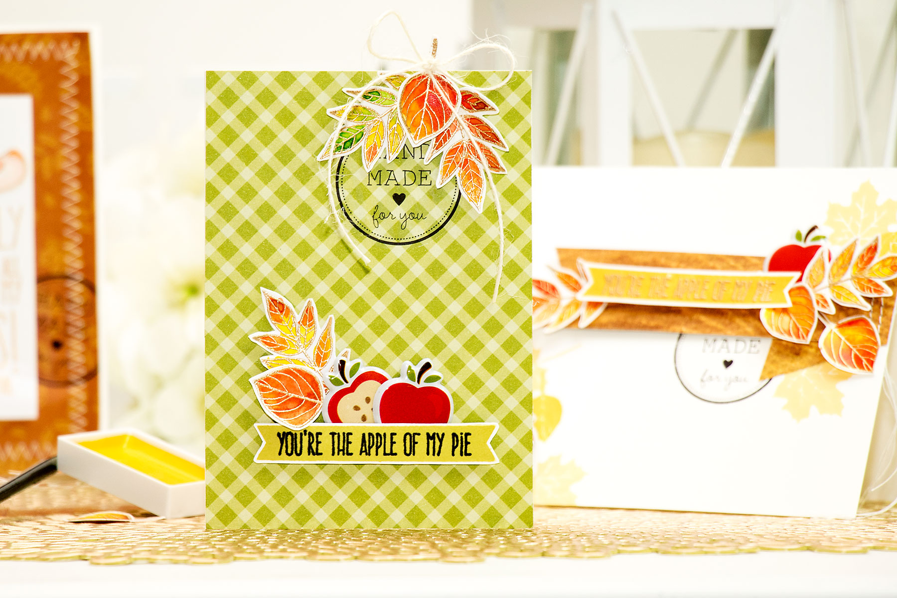 Yana Smakula | Simon Says Stamp November Card Kit. You're The Apple of my Eye
