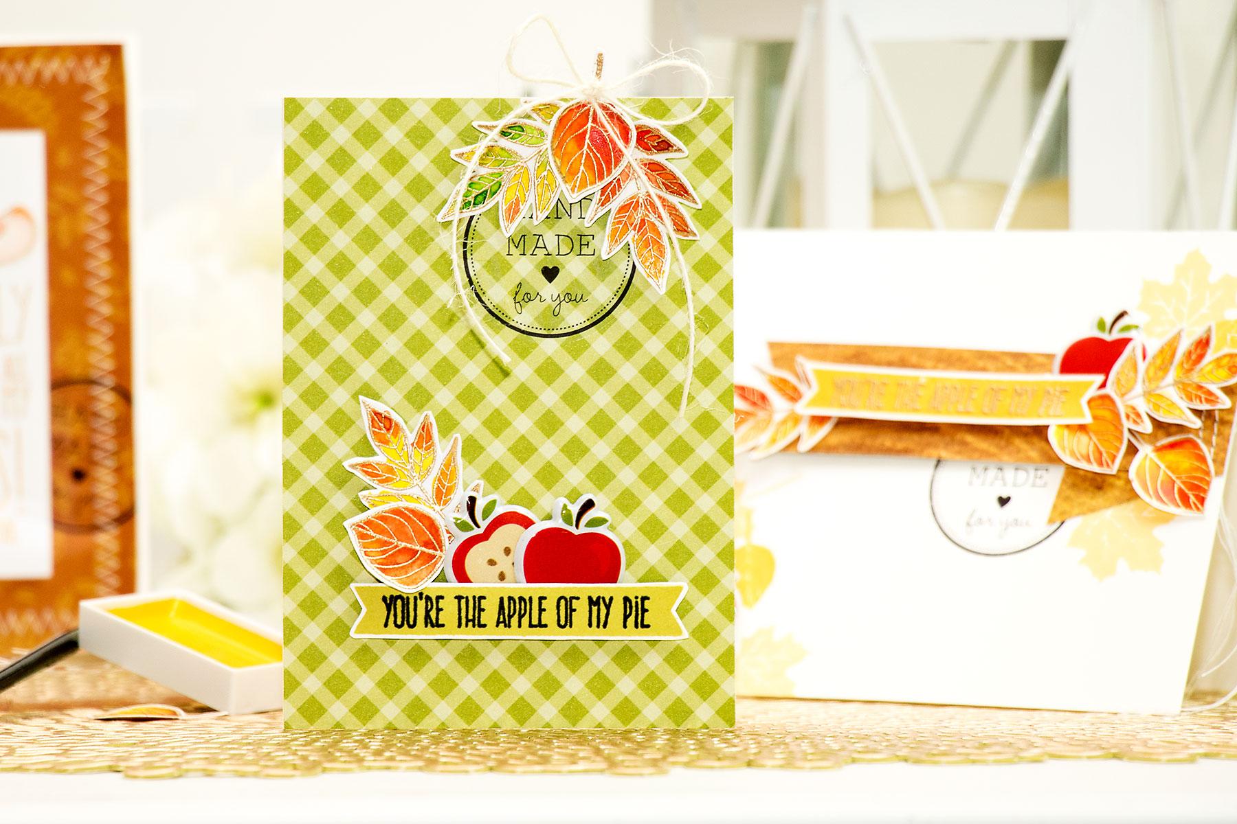 Yana Smakula | Simon Says Stamp November Card Kit. You're The Apple of my Eye