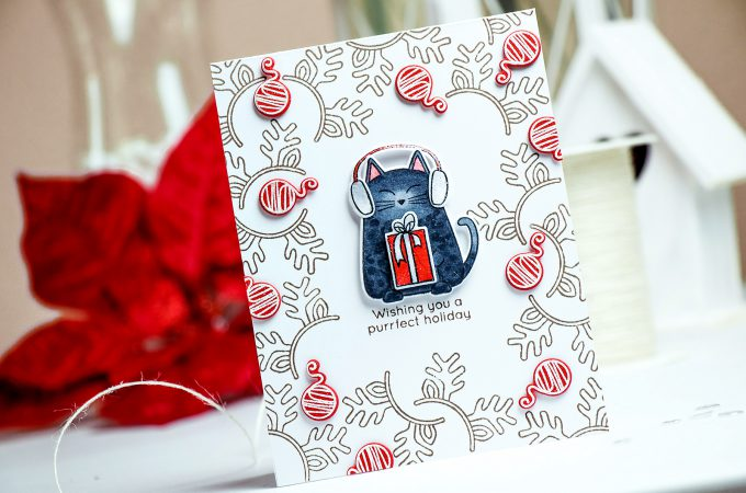 Simon Says Stamp | Purrfect Holidays Cat Christmas Card.