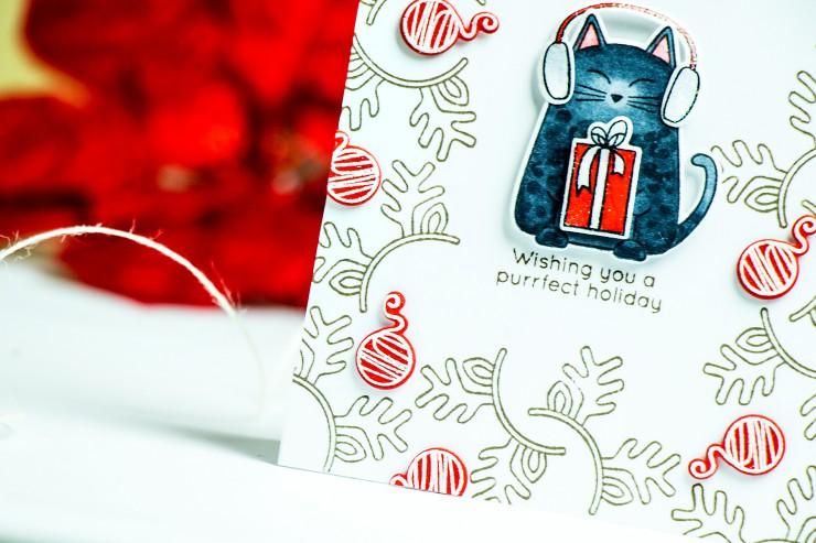 Simon Says Stamp Create Joy Release Blog Hop. Purrfect Holidays