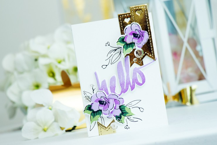 Yana Smakula | Altenew + Pretty Pink Posh Blog Hop Hello Card