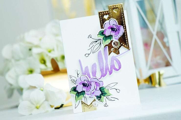 Yana Smakula | Altenew + Pretty Pink Posh Blog Hop Hello Card
