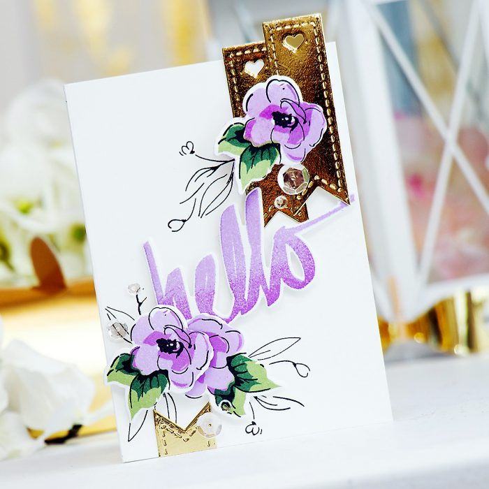 Altenew + Pretty Pink Posh | Hello Painted Flowers Stamps