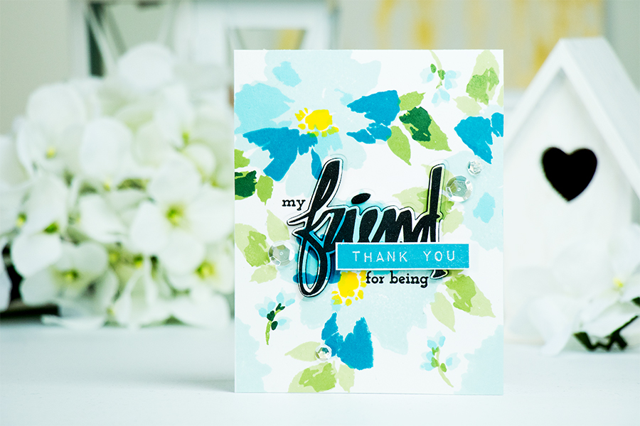 Yana Smakla | Thank You For Being My Friend Card using Watercolor Wonders stamp set